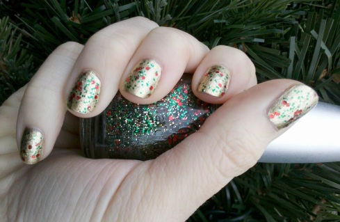 Orly Luxe Nail Polish with China Glaze Party Hearty Glitter Topcoat